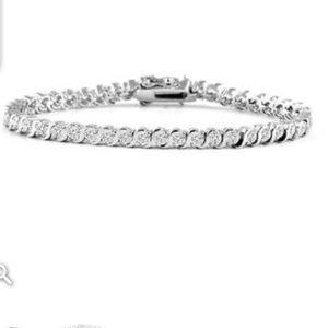 14K White Gold CZ tennis bracelet